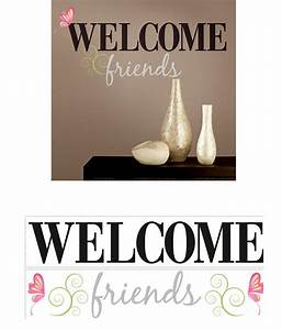 welcome friends peel and stick decal With wall sticker outlet