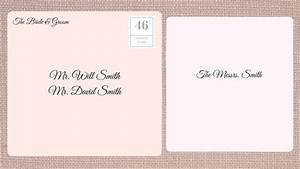 how to address wedding invitations southern living With wedding invitation etiquette unmarried couple not living together