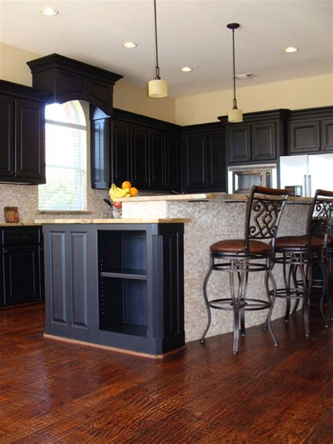 kitchen island traditional kitchen  metro