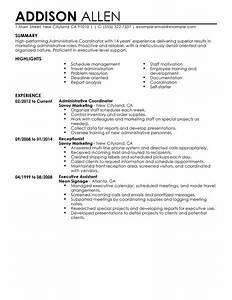 best administrative coordinator resume example livecareer With scheduling coordinator resume sample