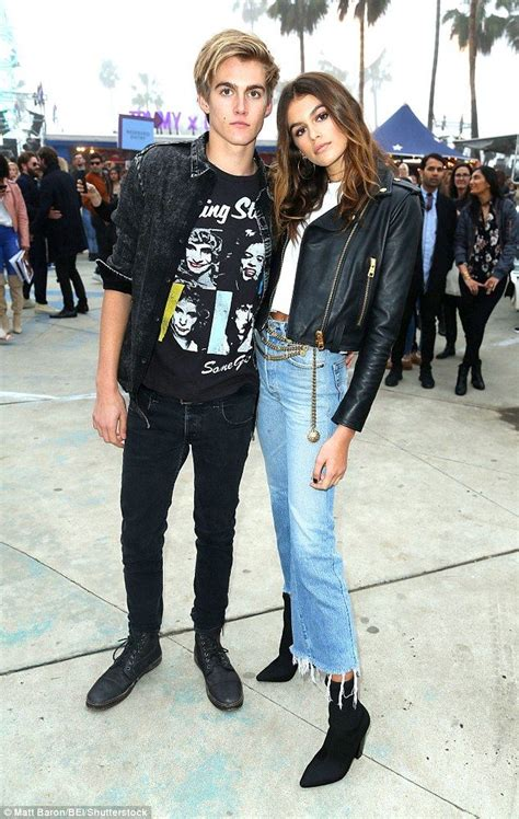 Kaia and Presley Gerber channel rock-and-roll vibes at ...