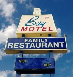 bay motel family restaurant   military ave green