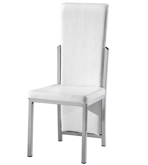 white chair and a half dining chair white executive