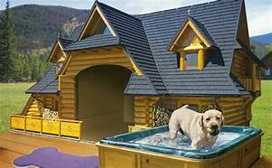 11 luxury dog houses worthy of mtv cribs barkpost for Dog mansion for sale