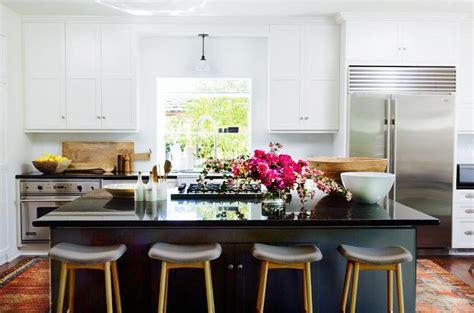black kitchen island  black countertop contemporary