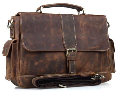 Cowhide Briefcase by Tiding Cowhide Leather Briefcase Laptop Tote Shoulder