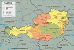 Labeled Map of Austria with States | World Map Blank and ...