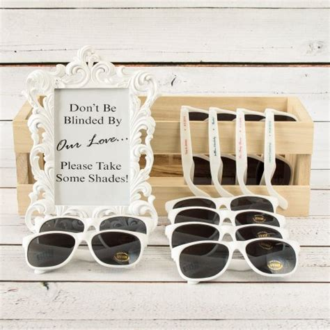 personalized sunglasses wedding wedding favors personalized sunglasses a wedding cake