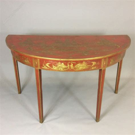 table demi lune cuisine georgian chinoiserie style demi lune table antiques atlas