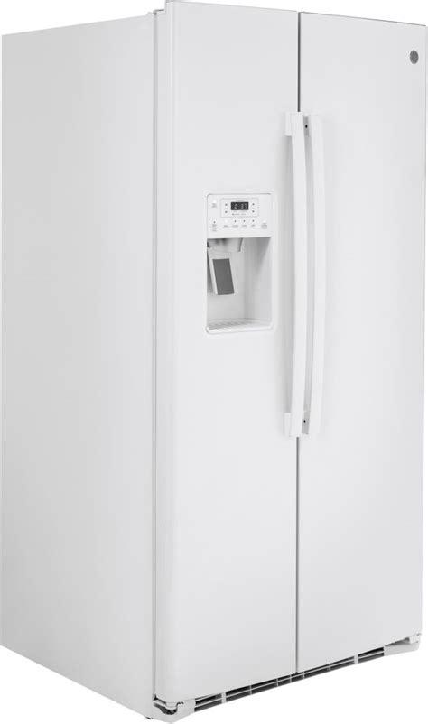 ge  cu ft white side  side refrigerator gssignww dick van dyke appliance world