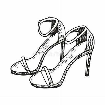 Heels Drawing Sketch Sandals Illustration Heel Female