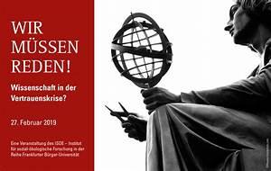 Wir M U00fcssen Reden  Wissenschaft In Der Vertrauenskrise   Isoe