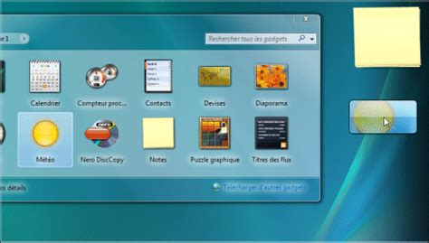 afficher meteo sur bureau windows 7 pc astuces afficher la météo sur le bureau windows vista