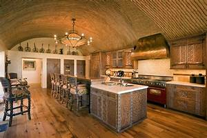 kitchen with barrel vaulted ceiling - Hooked on Houses