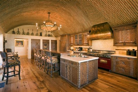 kitchen with barrel vaulted ceiling   Hooked on Houses
