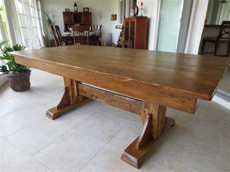 building reclaimed wood kitchen table loccie