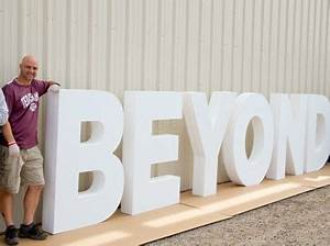 17 best ideas about foam letters on pinterest concrete for Giant foam letters diy
