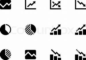 Line Chart And Diagram Icons On White Background  Vector Illustration