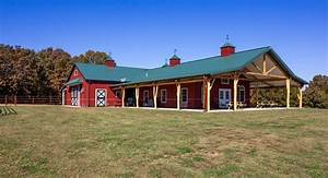 morton buildings stall barn with living quarters in With barn builders missouri