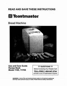 Toastmaster 1185 Use And Care Guide
