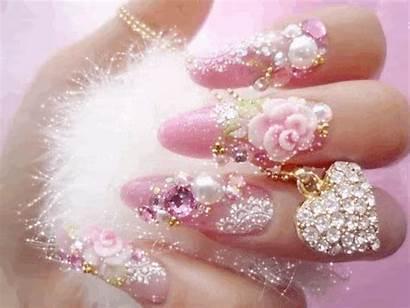 Nails Glitter Blush Canciones Mis Anime Favoritas