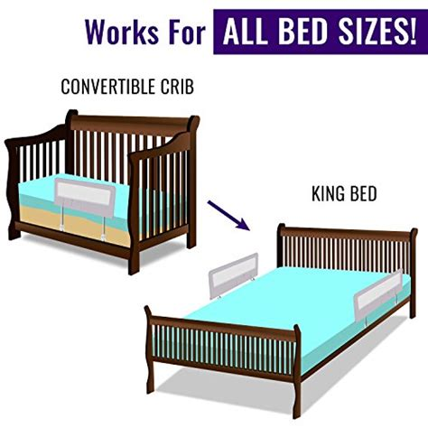 toddler bed rail guard  convertible crib kids twin