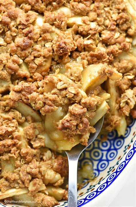 apple crisp recipes apple crisp recipe she wears many hats
