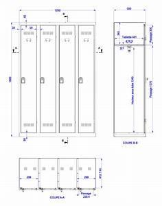 Conception Vestiaire Industriel Monobloc Armoire PLUS