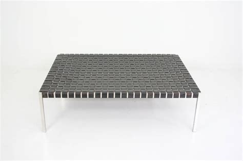 Abbyson villagio tufted leather square coffee table ottoman, dark brown. Ralph Lauren Woven Leather Bench or Cocktail Table at 1stdibs