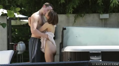 Sensual Outdoor Sex With Charming Brunette Tina Hot EPORNER