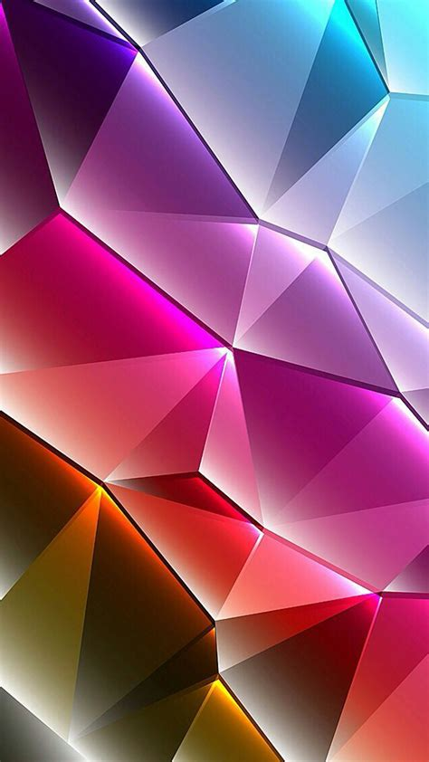 Cool Phone Wallpapers 01 of 10 with Colorful 3D Triangles