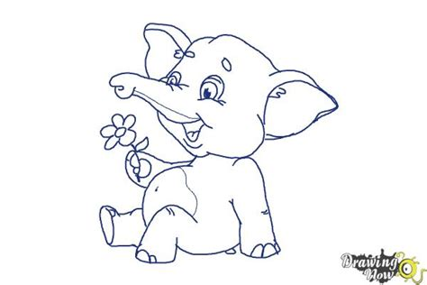 draw  cartoon elephant drawingnow
