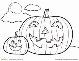 jack  lantern coloring page educationcom