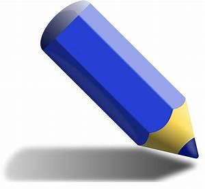 Crayon clipart navy blue - Pencil and in color crayon ...