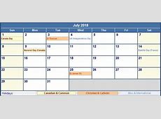 July 2018 Calendar With Holidays yearly printable calendar