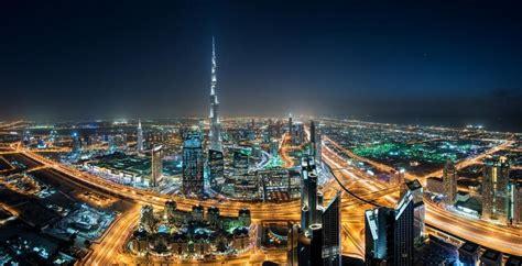 Cityscape, Dubai, Skyscraper, Night, Lights, Mist, United