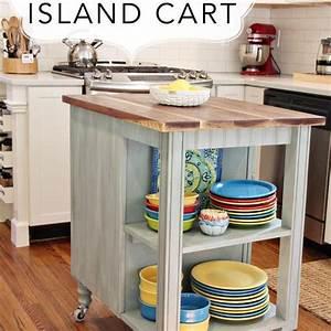 Diy, Kitchen, Island, Cart, With, Plans