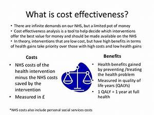 What is cost effectiveness