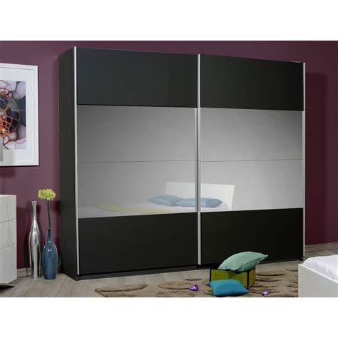 Black Wardrobe by Optimus Large Black Gloss Wardrobe With Sliding Doors And