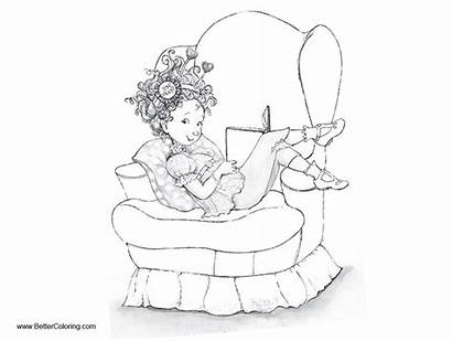 Nancy Fancy Coloring Pages Reading Printable Characters