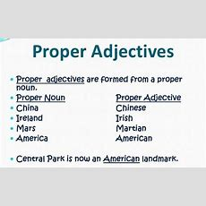 English Grammar A To Z What Is A Proper Adjective?  English Grammar  English Grammar