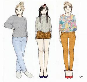 Sketches of girls and clothes on Behance
