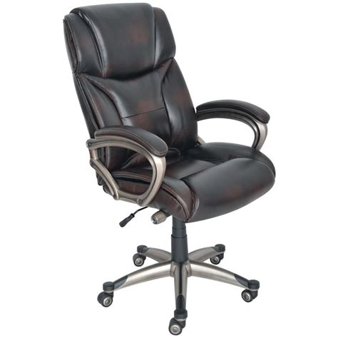 Office Chairs Staples Uk by Staples Mayfair Bonded Leather Executive Chair Antique