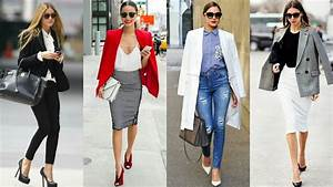 OUTFITS para ir al trabajo y oficina | Tendencias 2019 ideas de looks casuales working girl ...