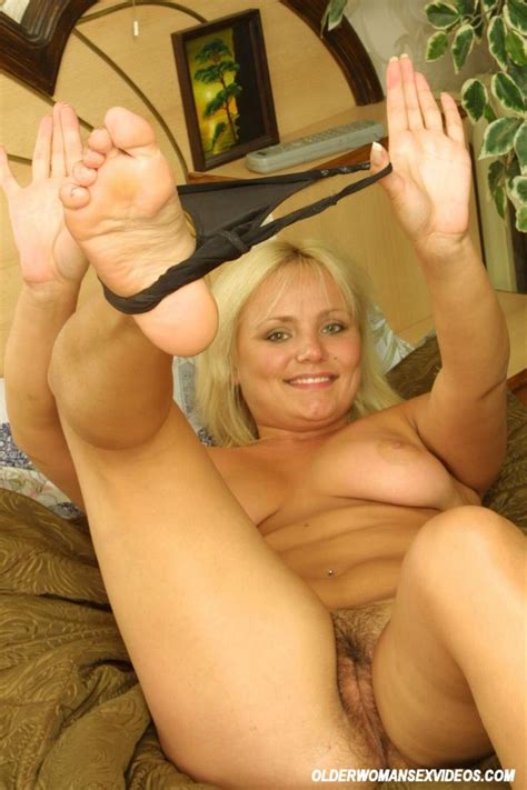 Blonde Teen Fingers Hairy Pussy