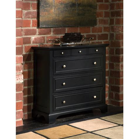 How To Style A Dresser by Home Styles Bedford 4 Drawer Black Chest 5531 41 The