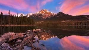 Pyramid, Mountain, Reflection