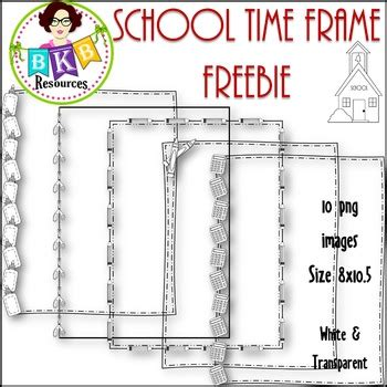 school time frame freebies graphics  commercial
