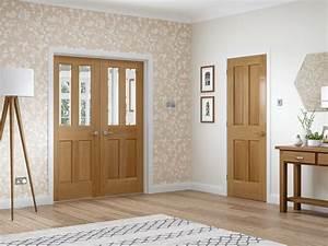 Victorian 4 panel internal oak door for Internal door ideas uk