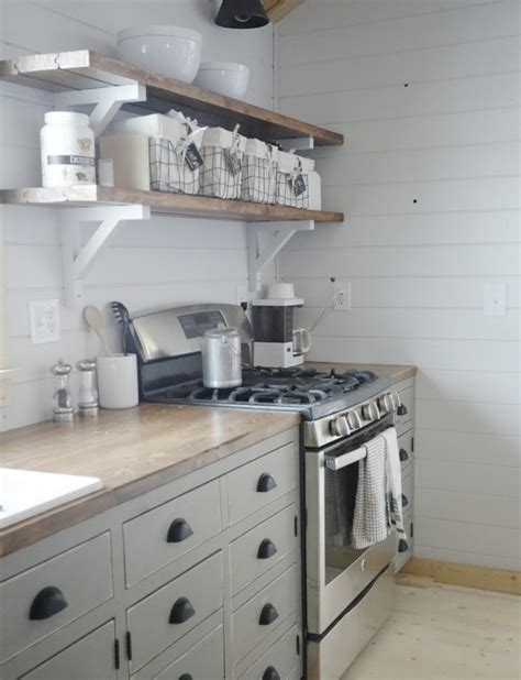 how to build open cabinets ana white open shelves for our cabin kitchen diy projects